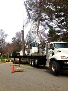 Crane job Glens Falls